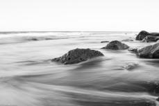 #FortFisherNC #KureBeachNC #WilmingtonNC #Ocean #BlackandWhite #tide #rocks #coquinaRocks #thisisilm