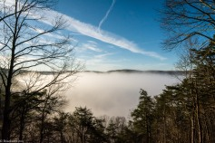 Driving back to NC on Friday I was able to stop by the New River Gorge for a quick shot. As you can see there was a LOT of fog. If you've ever been you understand just how thick and deep this ran. The view of the gorge is always nice, but getting to see something like this is pretty cool as well.